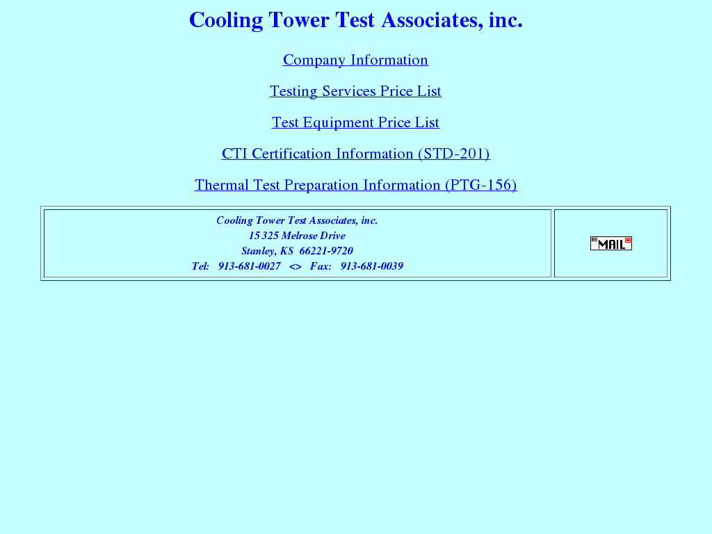 Cooling Tower Test Associates Competitors, Revenue and