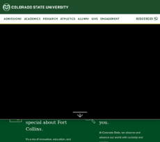 Colorado State University website history
