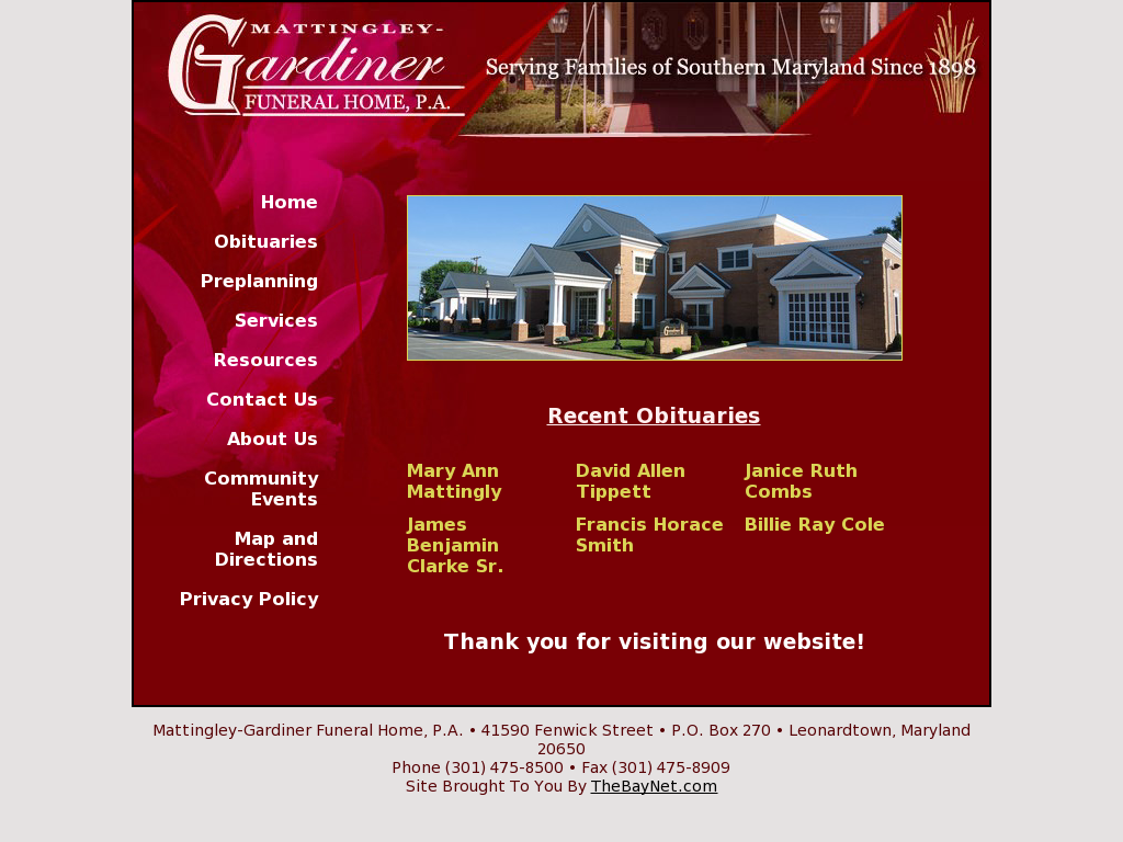 Mattingly Funeral Home Flisol Home