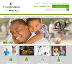 Cornerstone Health Care website history