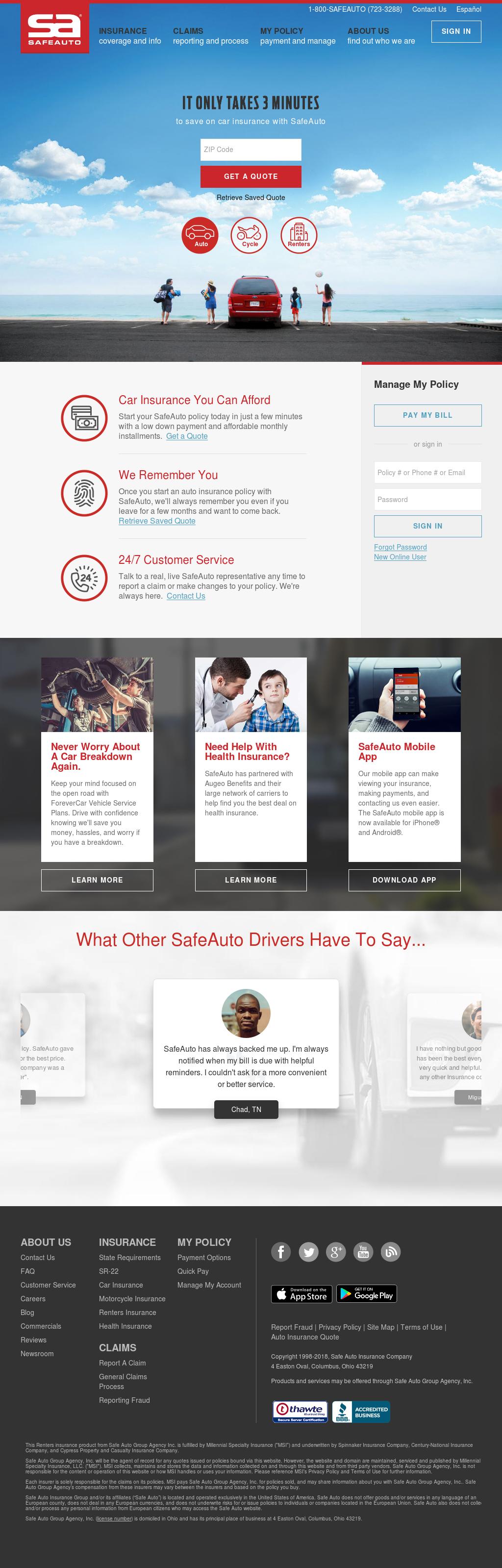 Safe Auto Customer Service >> Safe Auto Competitors Revenue And Employees Owler Company Profile