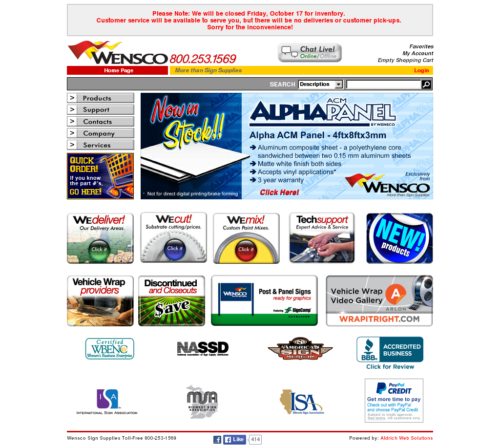 Wensco Sign Supplies S Competitors Revenue Number Of Employees Funding Acquisitions News Owler Company Profile Order placement 24 hours a day, 7 days a week. owler