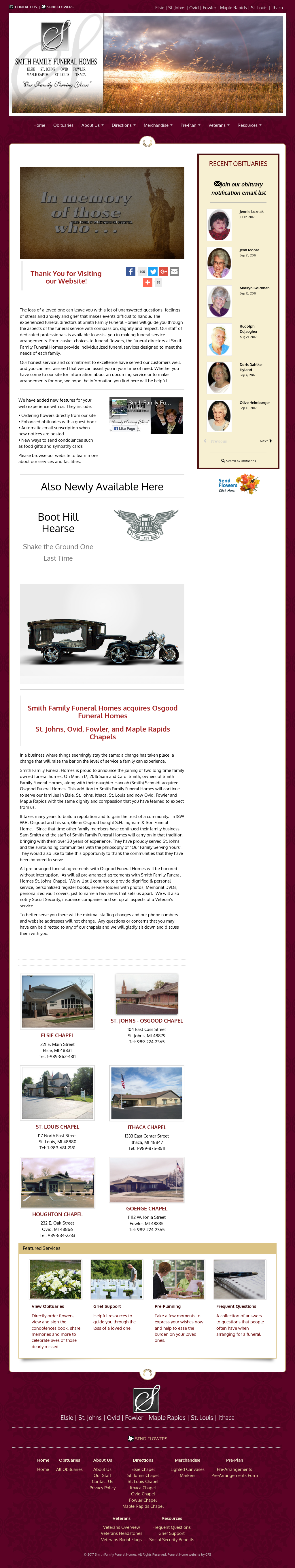 Smithfamilyfuneralhomes Competitors, Revenue and Employees - Owler ...