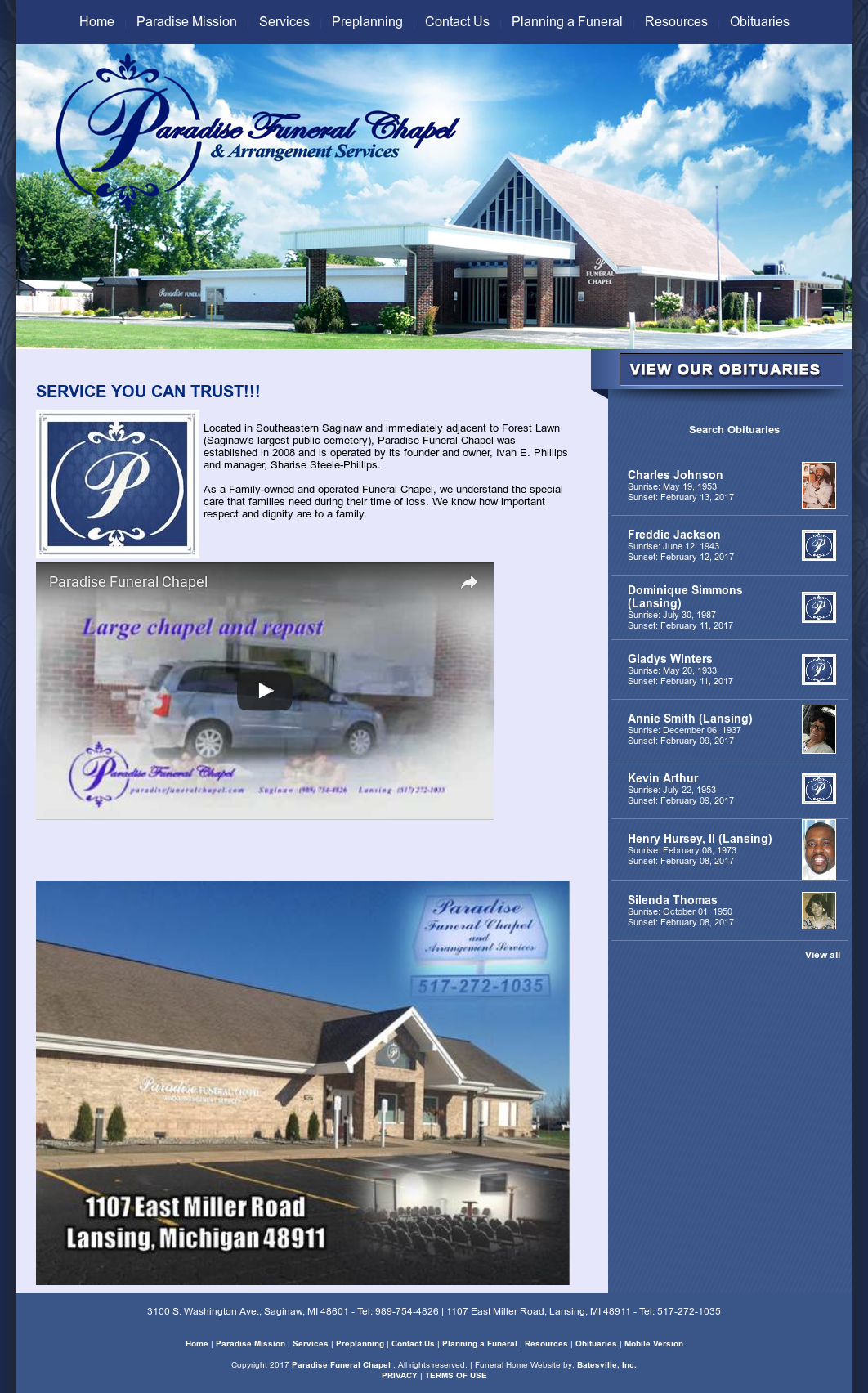 Paradise Funeral Chapel Competitors Revenue And Employees Owler Company Profile