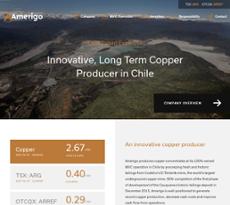 Amerigo Resources website history