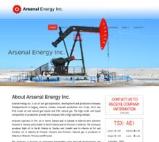 Arsenal Energy website history