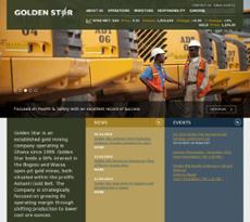 Golden Star Resources website history