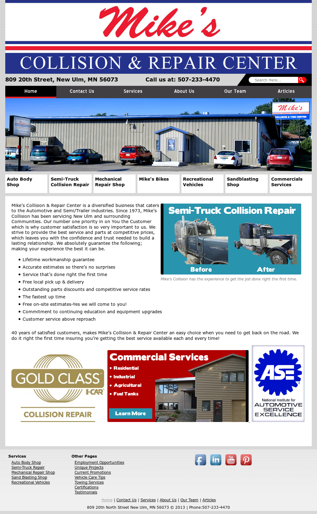 Mike s collision competitors revenue and employees for Greenspire solutions