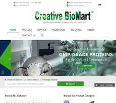 Creative Biomart website history