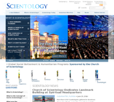 Church of Scientology International website history