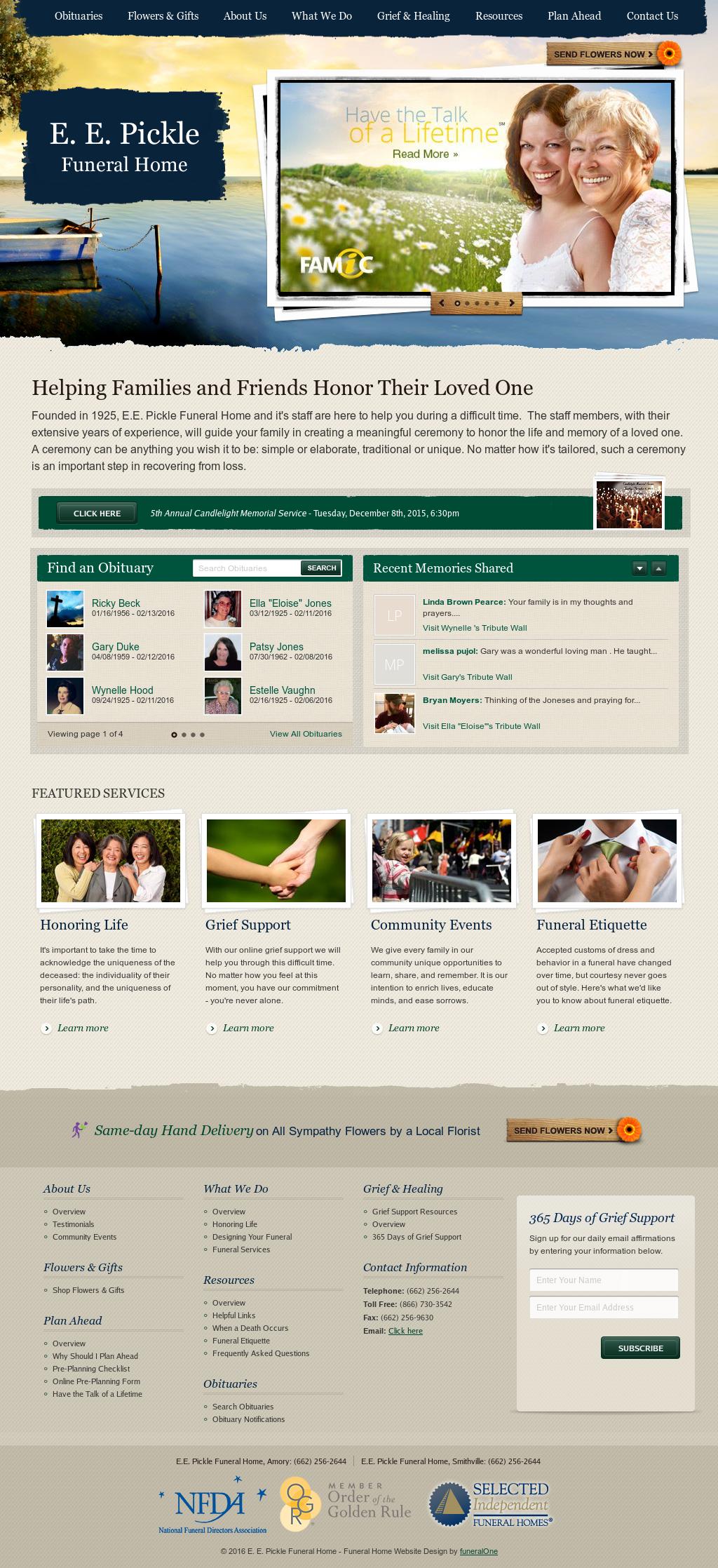 Funeral home web design