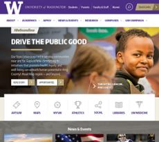 UW School of Nursing website history