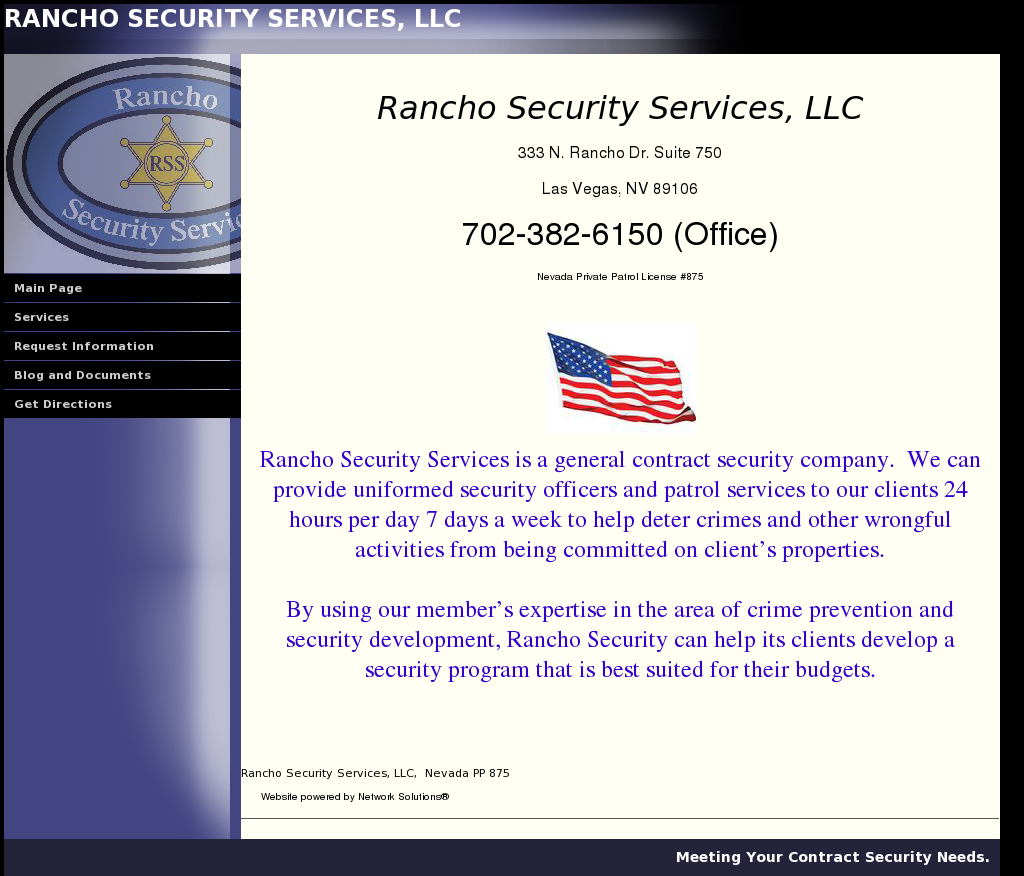 Rancho Security Services Competitors, Revenue and Employees - Owler