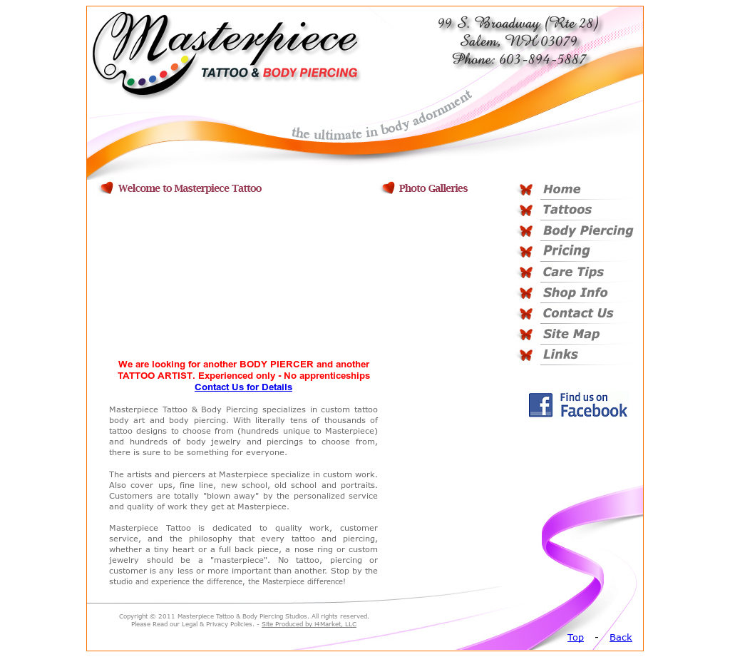 Masterpiece Tattoo Body Piercing S Competitors Revenue Number Of Employees Funding Acquisitions News Owler Company Profile