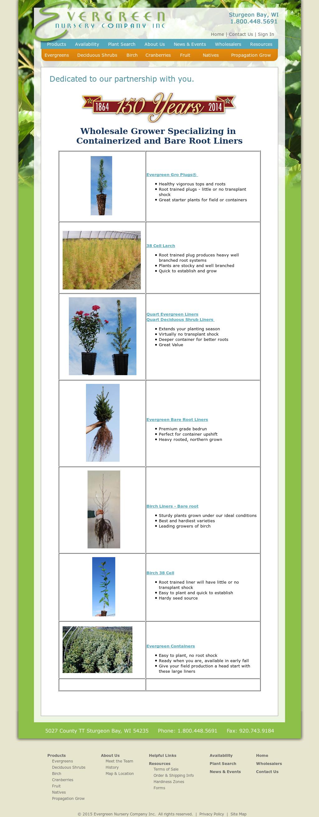 Evergreen Nursery Company Compeors