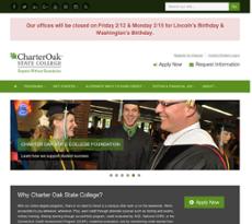 Charter Oak State College website history