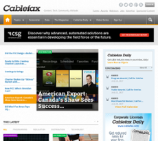 CableFAX website history