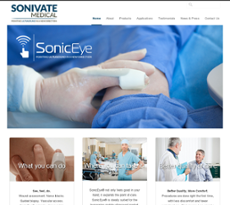Sonivate Medical website history