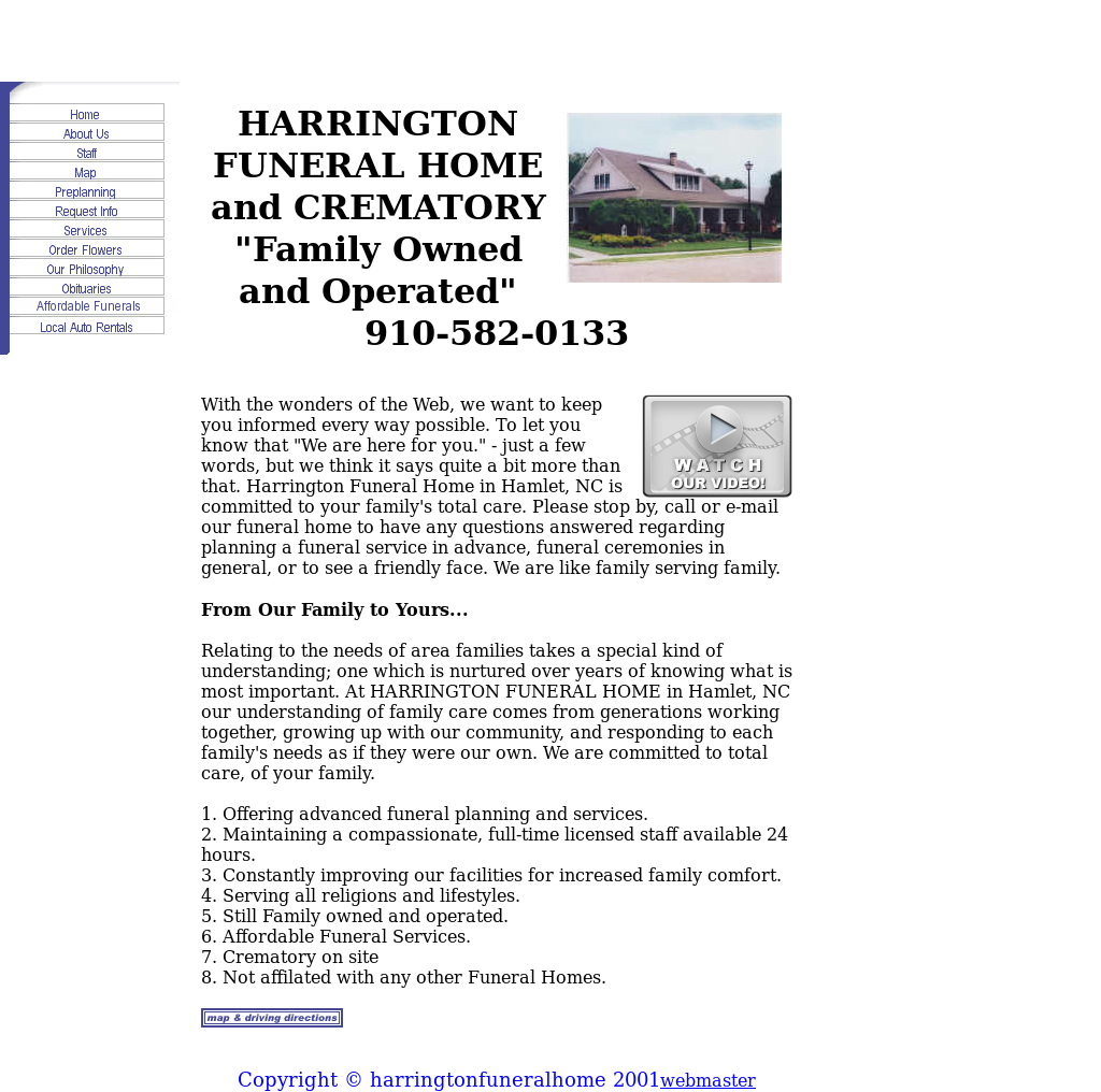 Harrington Funeral Home & Chapel Competitors, Revenue and Employees