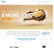 Quest Nutrition website history