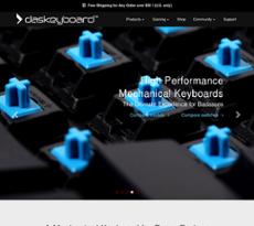 Daskeyboard website history