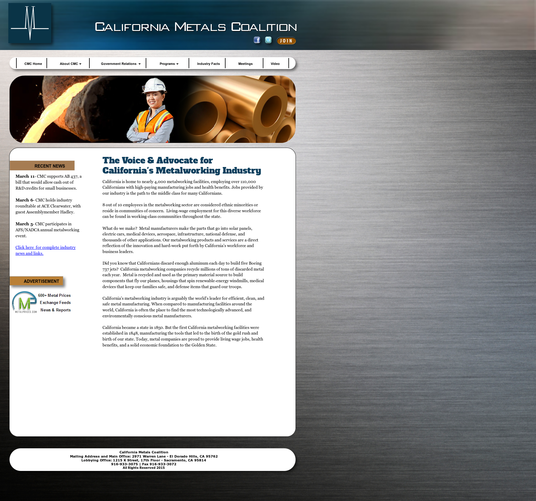 California Metals Coalition Competitors, Revenue and