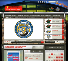 Xcel Energy Center website history