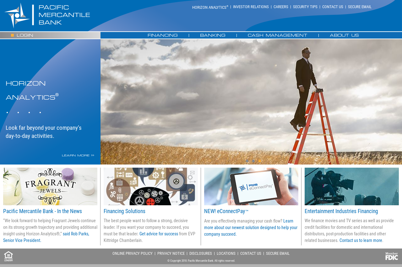 pacific mercantile bank website history