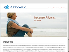 Affymax website history