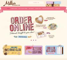 Millies Cookies Website History