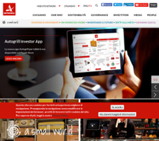 Autogrill website history