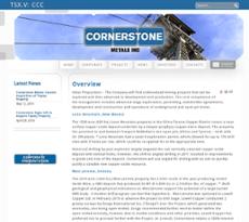 Cornerstone website history