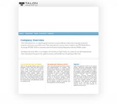 Talon International website history