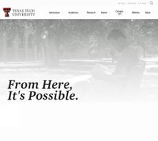 Texas Tech University website history