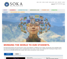 Soka University website history