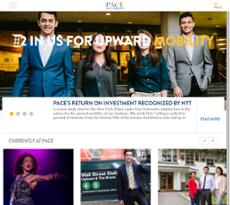 Pace University website history