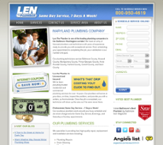 Len the Plumber website history