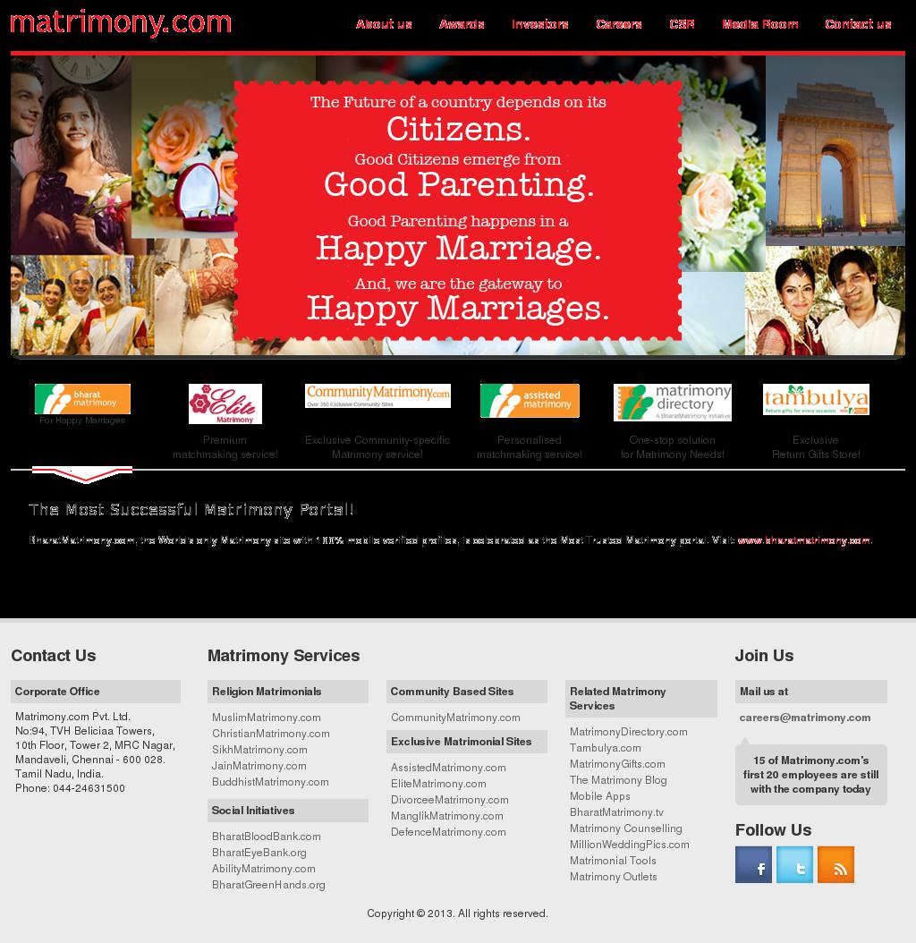 Matrimony Competitors, Revenue and Employees - Owler Company