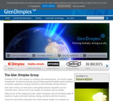 Glen Dimplex website history