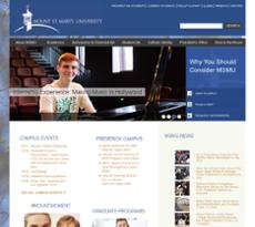 Mount St. Mary's University website history