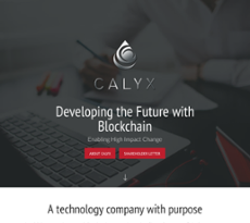 Calyx website history