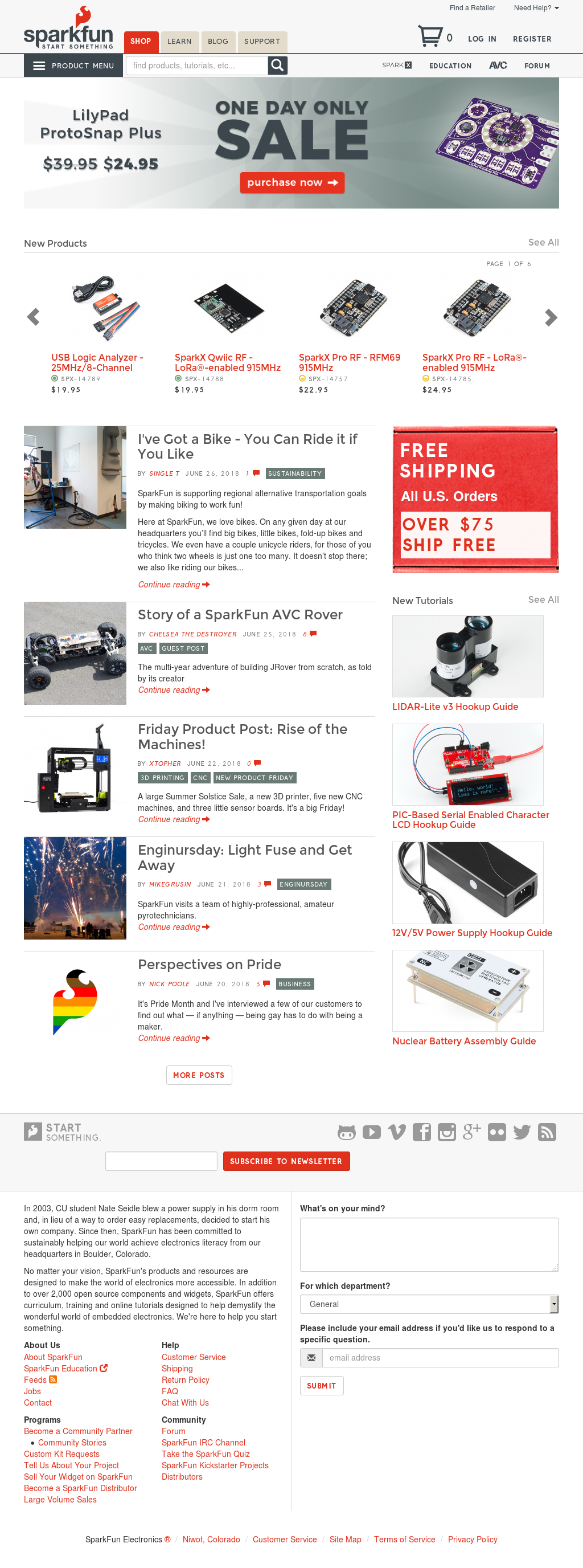 Sparkfun Competitors Revenue And Employees Owler Company Profile Ladder Logic News Electronics Website History