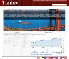 Textainer website history