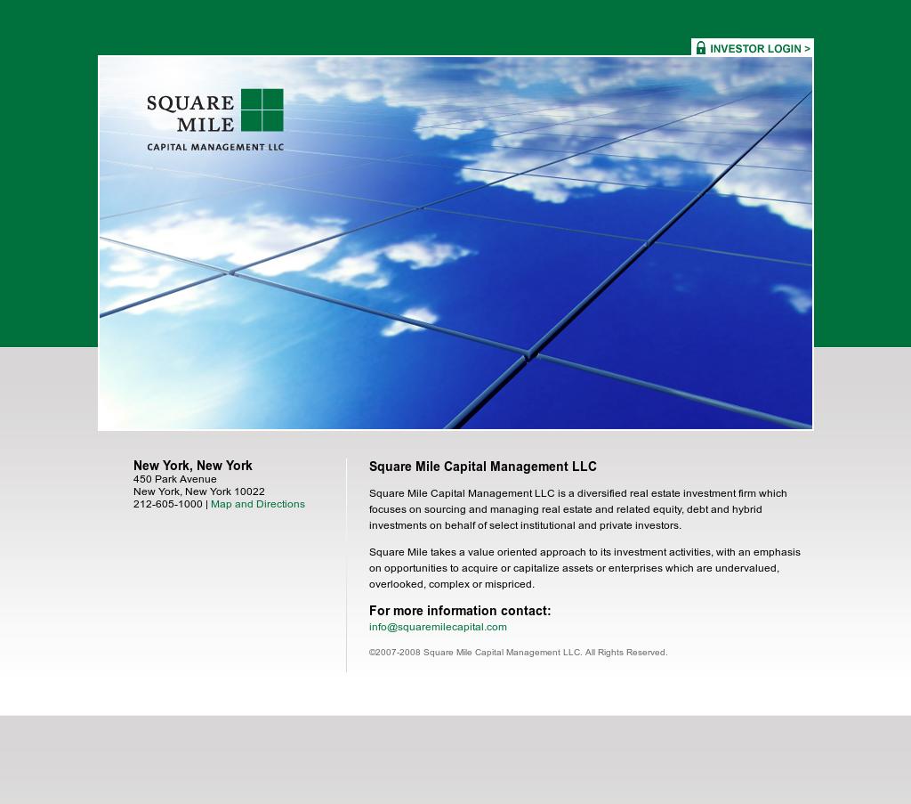 Square Mile Capital Management Competitors, Revenue and