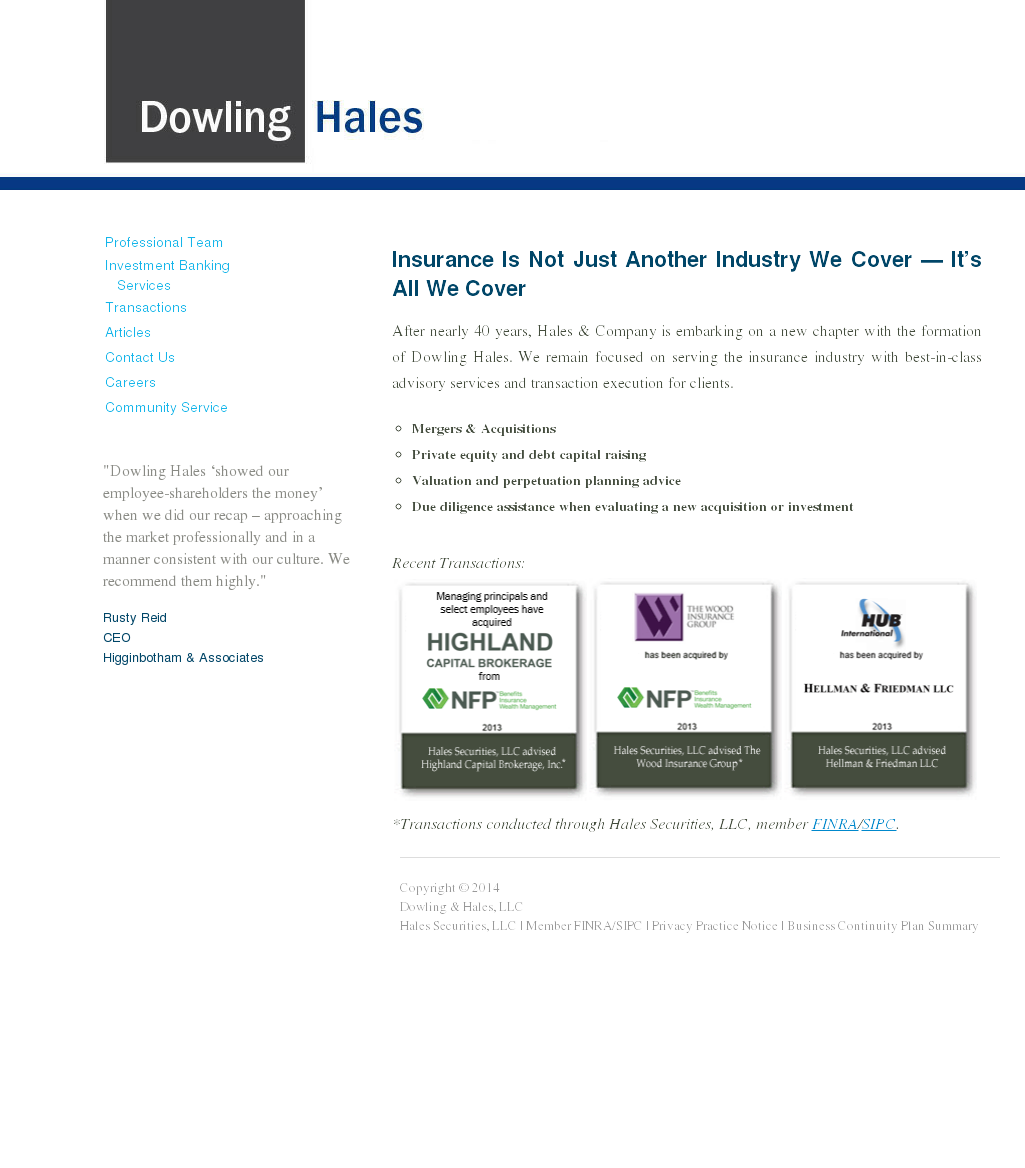 Dowling & Hales Competitors, Revenue and Employees - Owler Company