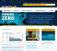 Enerplus website history