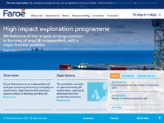Faroe Petroleum website history