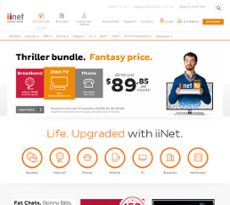 iiNet website history