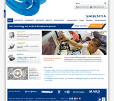 Sagentia website history