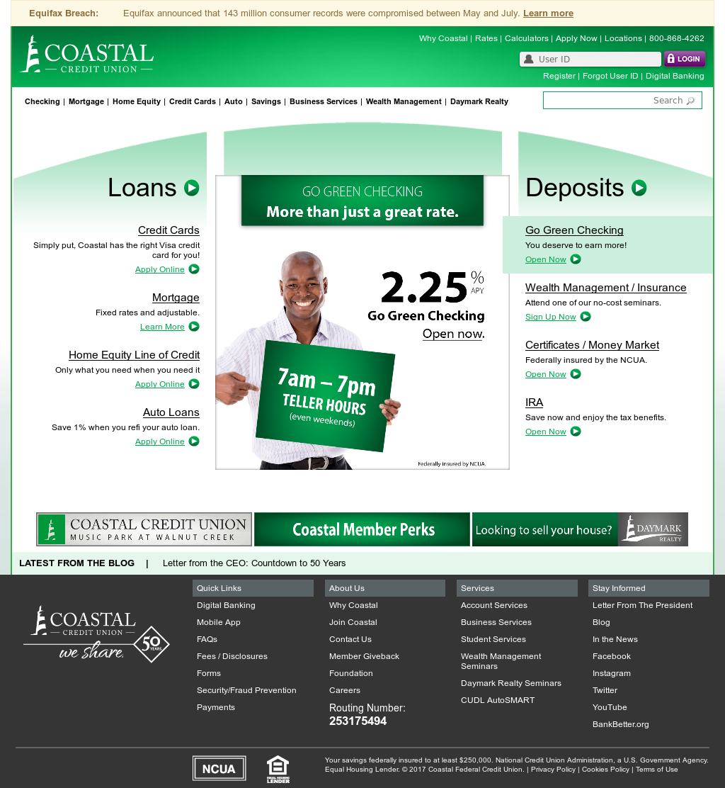 coastal federal credit union competitors, revenue and employees